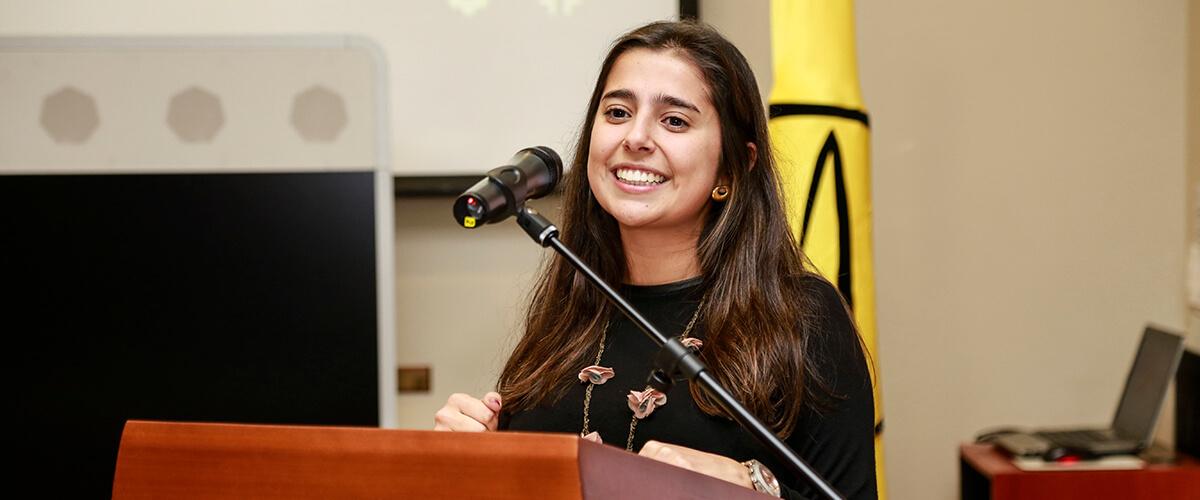 Cristina Mejía embajadora de LiderAndes