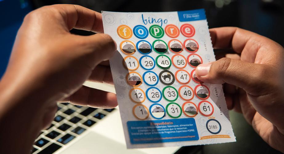 Imagen de un cartón de bingo Fopre