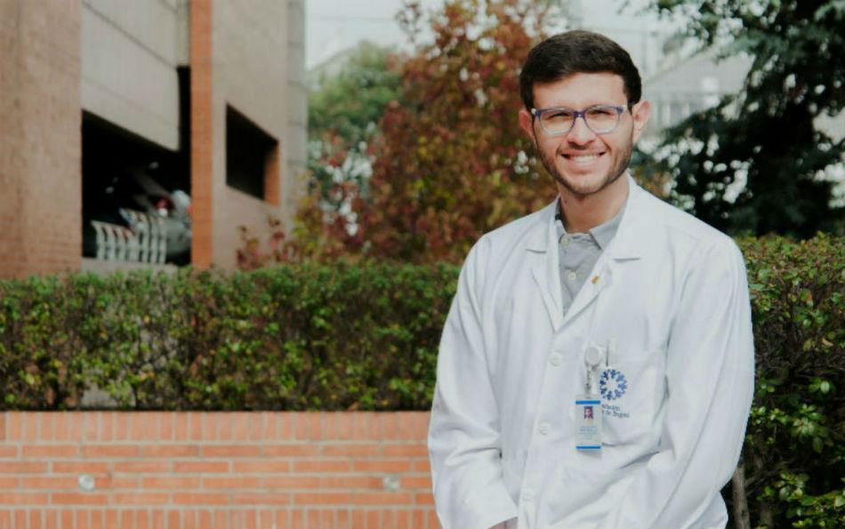 El médico Jorge Patiño inició sus estudios de Medicina en la Universidad de los Andes en 2011.