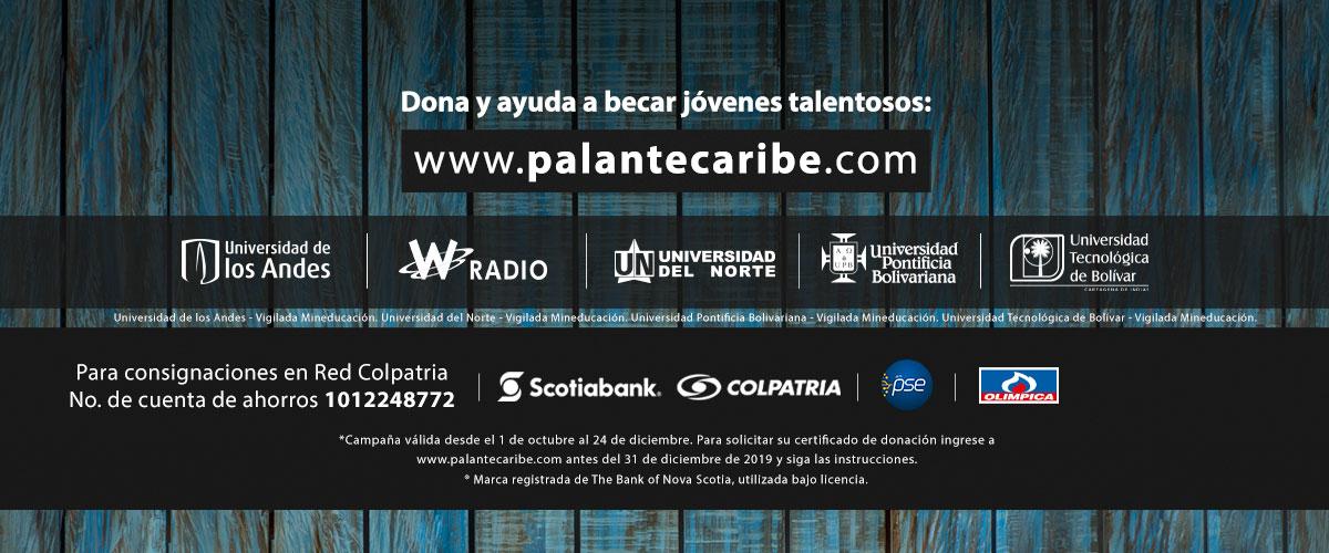 Imagen con las universidades aliadas y logos de Pa'lante Caribe