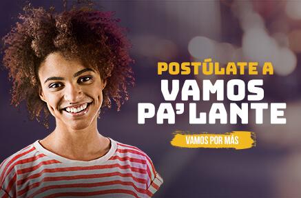 Mujer joven postulación a campaña Vamos Pa´lante 2021